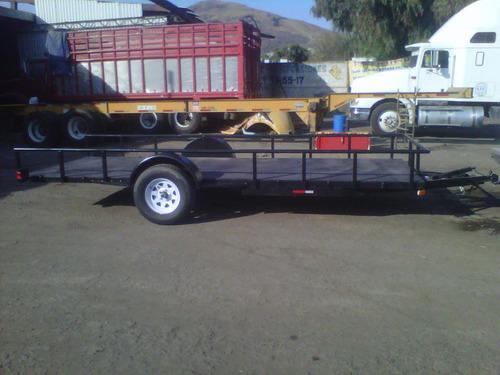 remolque cama baja camionetas motos 1500 kgs. mex