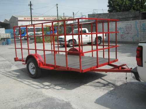 remolque cama baja jaula camiones camionetas ver 188