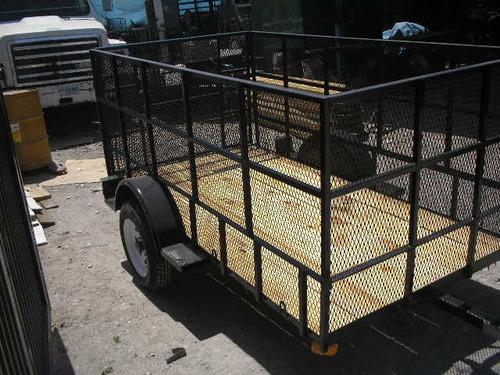 remolque cama baja jaula desplegada cuatrimotos camion ver17