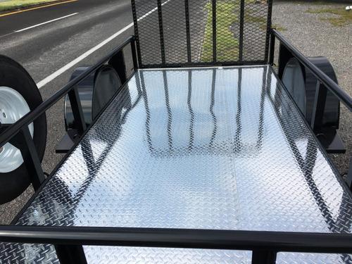 remolque cama baja, motos, cuatrimotos, piso de aluminio