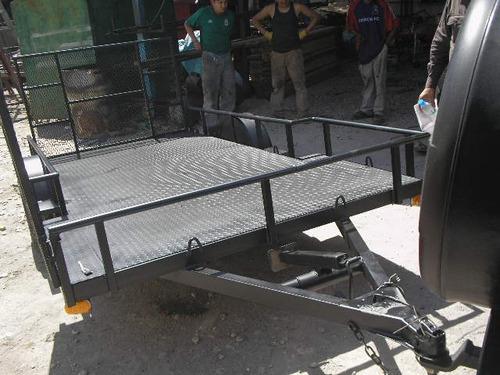 remolque cama baja para 2 cuatrimotos rampas t mini mex 17