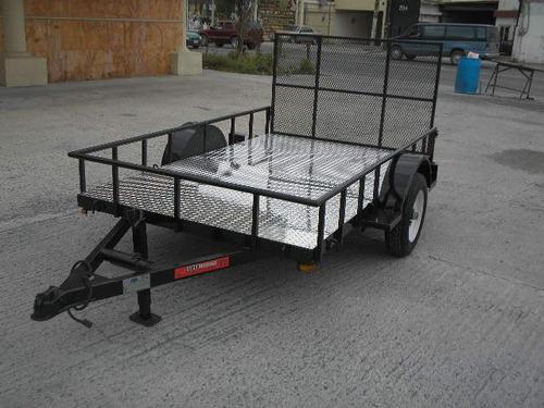 remolque cama baja rampa cuatrimotos camionetas traila ver