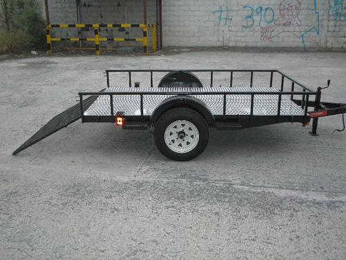 remolque cama baja traila cuatrimotos camioneta tamp 20