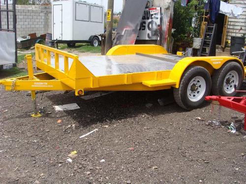 remolque carhauler con cola de pato 6000 k. nuevo con serie