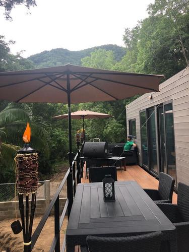 remolque casa contenedor bmw mercedez benz porsche
