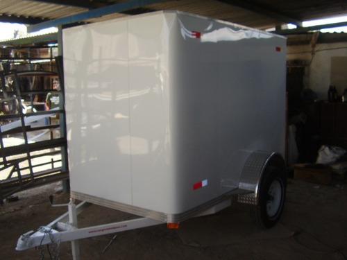 remolque cerrado de aluminio cuatrimotos mex
