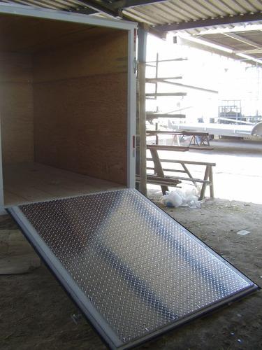 remolque cerrado de aluminio cuatrimotos mty