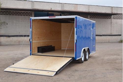 remolque cerrado tipo caja seca (motos, mudanza)