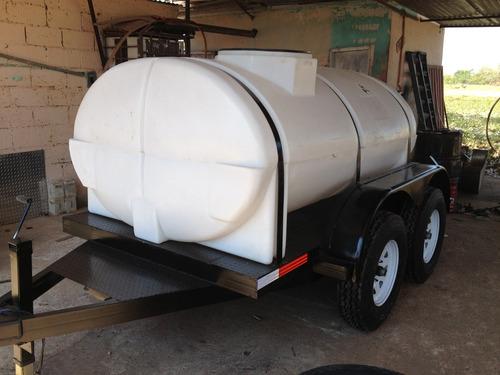 remolque  con  tanque  nodriza para 3000lt  o 5000lt