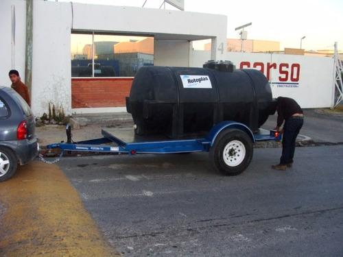 remolque con tanque nodriza para agua 2850 lts.nuevos