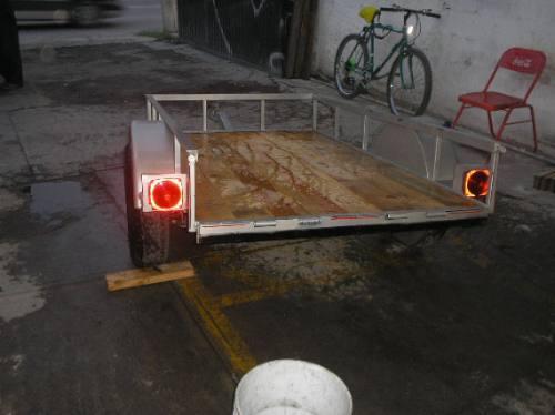 remolque cuatrimoto camioneta moto plataforma traila mty 188