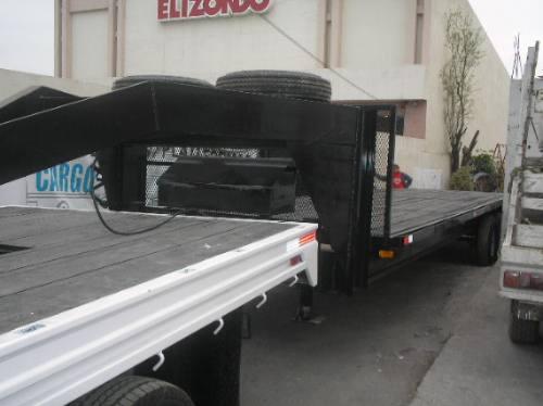 remolque cuello ganso retroexcavadoras maquinaria camion mty