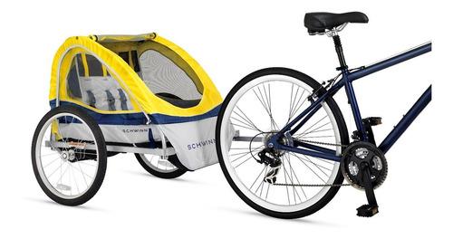 remolque doble para bicicleta schwinn echo amarillo