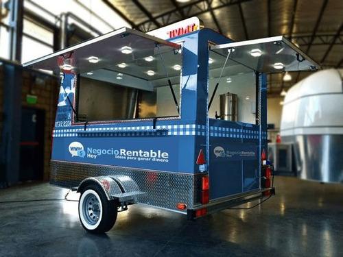 remolque food truck, fabrico negocio rodante