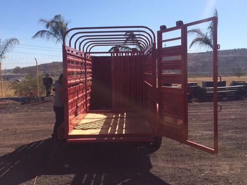 remolque ganadero de 3 toneladas nuevo