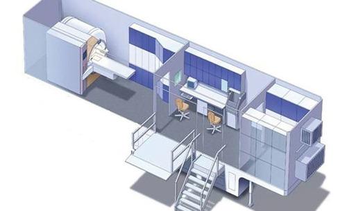 remolque hospital, clínica móvil, consultorio móvil
