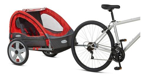 remolque instep doble para bicicleta rojo