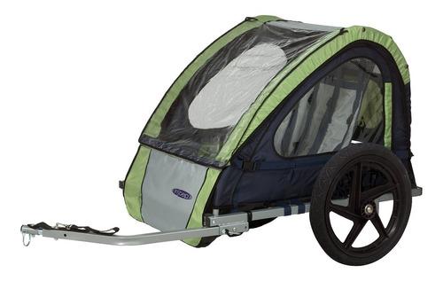 remolque instep doble para bicicletas verde