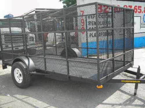 remolque jaula camioneta cuatrimoto plataforma pet mty 18