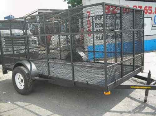remolque jaula camioneta cuatrimoto plataforma pet mty 19