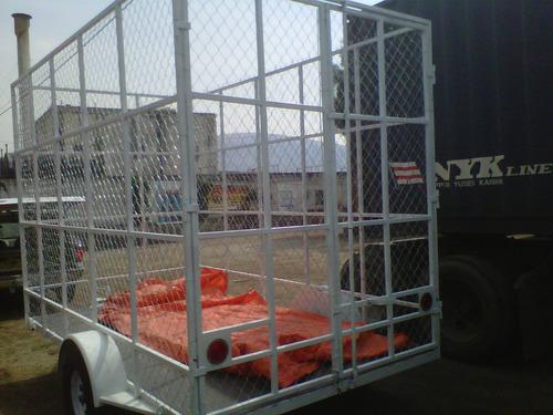 remolque jaula ciclonica contenedor camiones camionetas mex