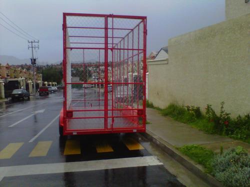 remolque jaula ciclonica pet carton reciclaje mex 17