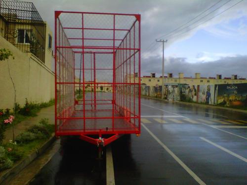 remolque jaula ciclonica pet carton reciclaje mty 17