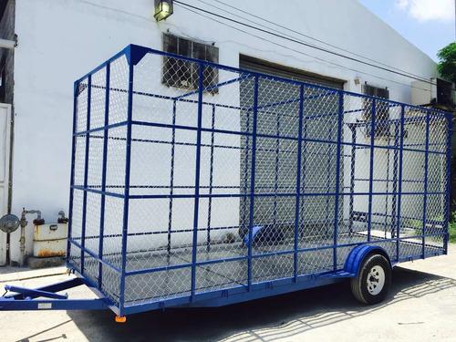remolque jaula ciclonica plataforma camionetas malla mty 17