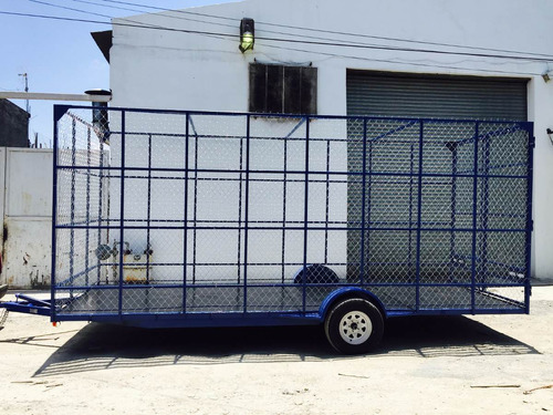 remolque jaula ciclonica reciclaje pet camionetacamionmex188