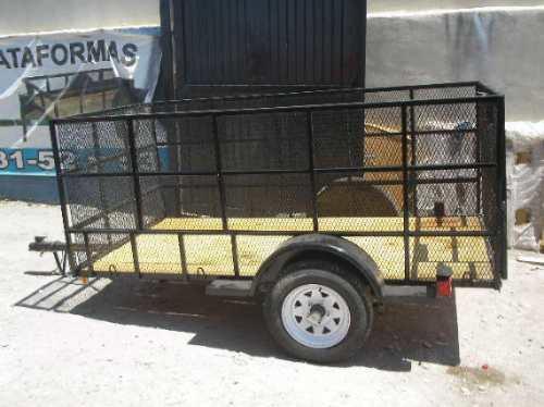 remolque jaula cuatromoto camioneta malla mty 18