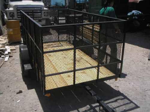 remolque jaula cuatromoto camioneta malla mty 19