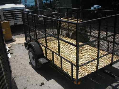 remolque jaula cuatromoto camioneta malla mty