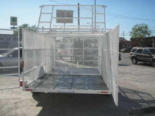 remolque jaula malla camion camioneta caja contenedor ver
