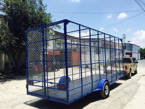remolque jaula malla ciclonica pet reciclaje plastico mex 20