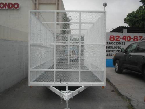 remolque jaula malla desplegada camiones camionetas mty 17