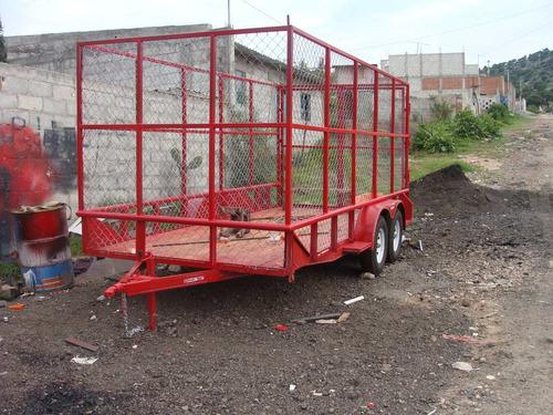 remolque jaula nuevo con serie 3000 kilos para pet
