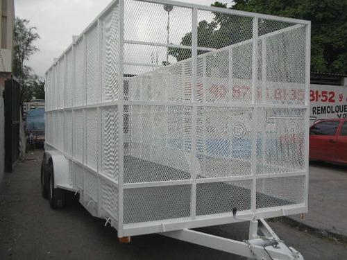 remolque jaula reciclaje malla pet carton qro20