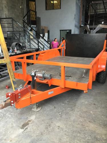 remolque minicargador montacarga maquinaria bobkat mty 19