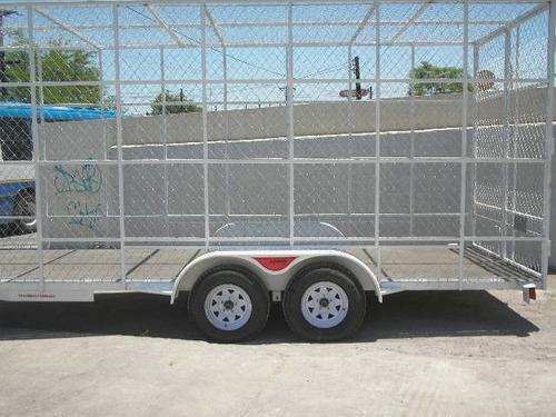remolque multiusos jaula ciclonica pet camionetas mex 188