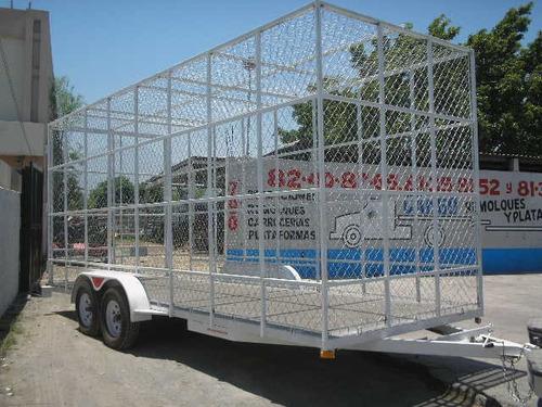remolque multiusos jaula ciclonica pet camionetas mex 19