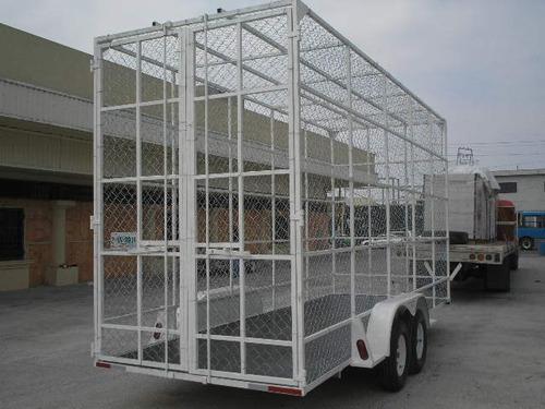 remolque multiusos jaula ciclonica pet camionetas ver