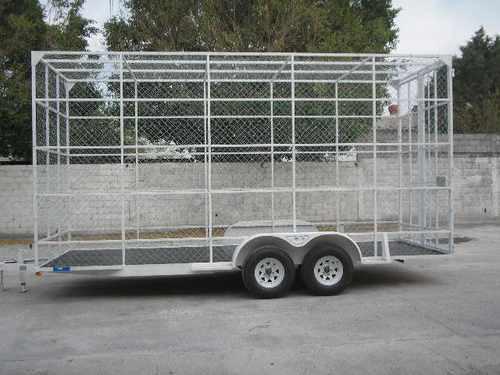 remolque multiusos jaula pet camionetas camion malla mty