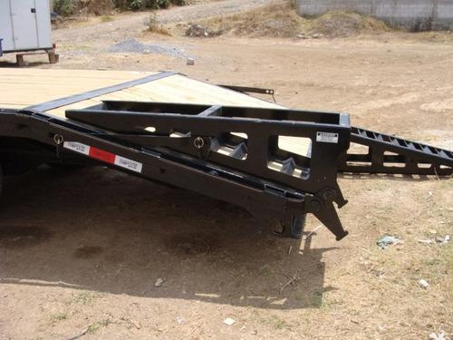 remolque nuevo 10 tonelada con serie, rampas y cola de pato