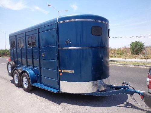 remolque nuevo 2 caballos en diagonal con camarote equipado