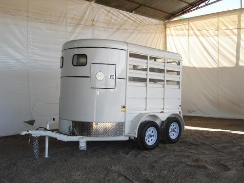 remolque nuevo 2 caballos,equipado,2 ejes,3 tons,division