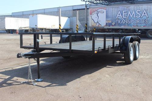 remolque nuevo 2015 cama baja 2 ejes 3.5 toneladas