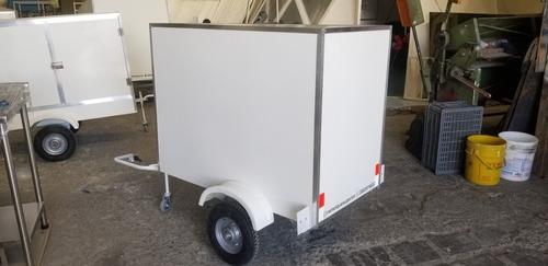 remolque o trailers  moto en fibra de vidrio para 9 canastil