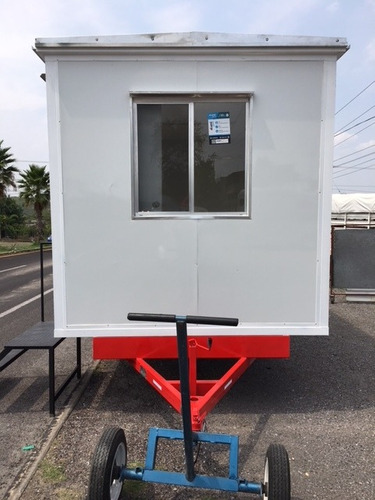 remolque oficina móvil 4 mt, cabina, punto de venta, obra