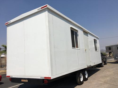 remolque oficina móvil, camper, cabina,8 mt caseta para obra