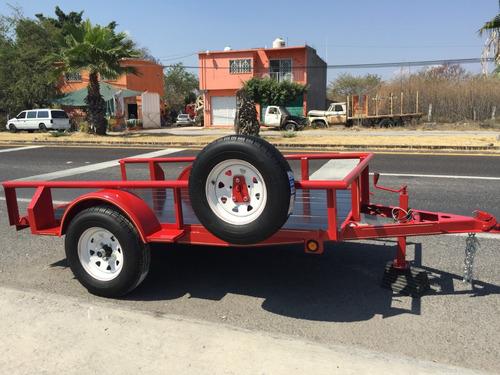 remolque para motos, cuatrimotos y carga general, ligero
